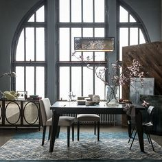 """42""""sq. x 30""""h; two drop-in leaves expand to 66"""" and 90""""w. Chocolate-stained solid wood legs and engineered wood top. Unexpanded comfortably ..."""