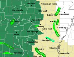 says For The Little Rock Metro & Central Arkansas: A Flash Flood Watch For Conway...Garland...Hot Spring..Perry..  Pope.. Saline..Van Buren & Yell Counties Sunday Afternoon Thru Monday AM.  A Few Widely Scattered Thunderstorms Tonight: Lo 68. Sunday Thru Tuesday. Showers & T'Storms..Some With Heavy Rain & A Few  Strong To Severe. Scattered Thunderstorms Tuesday Night & Wednesday: Hi Sunday 81 & Lo 66. Hi Monday 80 & 68. Hi Tuesday 78 & Lo 67. Hi Wednesday 84. - www.weather4ar.org/ - D.Poole.