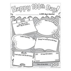 "Celebrate the 100th day of school by giving students a chance to show what they've learned. The large 17"" by 22"" sheets provide plenty of space for words and pictures. 32 sheets per pack."