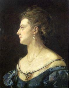 Madarász, Viktor | His Wife |  1871 | Oil , Canvas  61 x 50,5 cm | Inv.: FK10.526