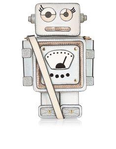 Metallic Robot Across Body Bag   Silver   Accessorize