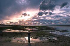 Ameland - prachtige zonsondergang op het strand
