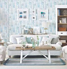 Paneled Walls Beach Living Room