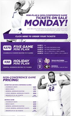 Kansas State - Basketball mini-plan and non-conference tickets
