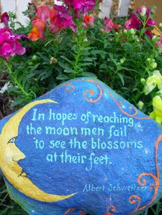 In Hopes Of Reaching The Moon, Men Fail to See The Blossoms At Their Feet