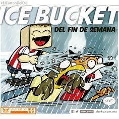 """""""Ice bucket..."""" #ElCartonDelDia #DisfrutenloConLeche #ElCartonDelDia #DisfrutenloConLeche #MonerosFutboleros"""