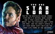 Which Character from Guardians of the Galaxy are you? - I got Star-Lord!