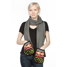 Scarf with pockets by NAiiV