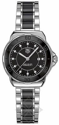 Tag heuer 'formula 1' 37mm #diamond dial wristwatch with #black ceramic & #steel , View more on the LINK: http://www.zeppy.io/product/gb/2/271779036024/