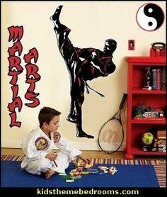 Martial Arts Theme Bedroom Decorating Ideas Kids Bedrooms