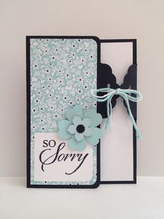 """So Sorry"" card made using the Scalloped Tag Topper Punch.  Card by Kendra, Stampin' Up! Demonstrator."