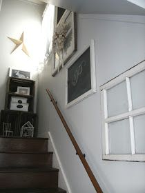 Little Vintage Cottage: Old Window Staircase Gallery