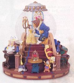 Disney Snowglobes Collectors Guide: Beauty and the Beast staircase Snowglobe