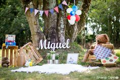 Miguel – Smash the cake Picnic Birthday, Baby Boy 1st Birthday, 1st Birthday Parties, 1st Birthday Photoshoot, First Birthday Photos, Backyard Carnival, Picnic Decorations, Foto Baby, Cake Smash Photos