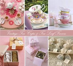 """I love the """"Tea & Cookies"""" idea and bagging/boxing fresh tea leaves. Makes it soo much more personal. <3"""