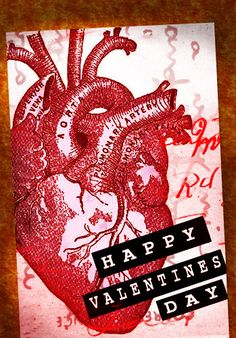 Anatomical Heart Valentines Card by FantastikDesigns - idea for the kids' class Valentines. :D