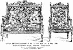 A Louis XVI loveseat (or causeuse) and armchair #furniture #louis16 #style #art #antique #french #history #MarcMaison #cabinetmaker