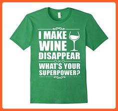 Mens i make wine disappear Tshirt Large Grass - Food and drink shirts (*Partner-Link)
