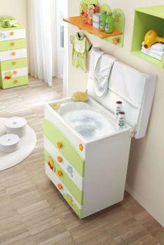 Azul y verde para la habitaci n del bebe alcobas - Muebles para habitacion de bebe ...