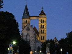 #Tower in Esslingen, Germany (night) - photo © Rebecca Mebane 2009
