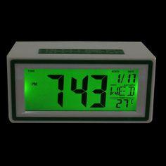 2016 Upgrade LED Alarm Clock despertador Temperature Sounds Control LED display electronic desktop Digital table clocks 15UY