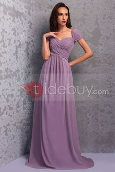 Graceful Pleats A-Line Floor-Length Renata's Bridesmaid/Formal Dress : Tidebuy.com