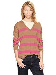 Eversoft striped V-neck sweater | Gap