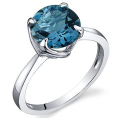 Sublime Solitaire Carats London Blue Topaz Ring in Sterling Silver Rhodium Nickel Finish Sizes 5 to 9 ** Additional details at the pin image, click it : Jewelry Ring Statement Jewelry Rings, Fine Jewelry, Stylish Jewelry, Craft Jewelry, Jewelry Ideas, Jewelry Box, Women Jewelry, Alternative Engagement Rings, Blue Topaz Ring
