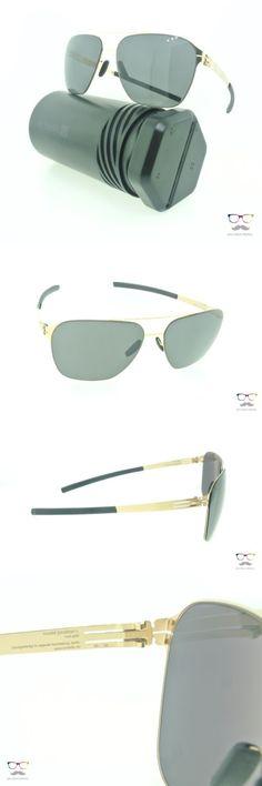 Other Unisex Eyewear 179246: Ic! Berlin Sunglasses Jonathan I. Rose Gold Aviator Frames Black Mirror -> BUY IT NOW ONLY: $309 on eBay!