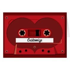 Love Songs Mix Tape Note Card - valentines day gifts love couple diy personalize for her for him girlfriend boyfriend Gifts Love, Love Girlfriend, Retro Gifts, Romantic Gifts, Love Cards, Custom Greeting Cards, Couple Gifts, Paper Texture, Mixtape