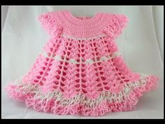Crochet Baby Dress/ Shells and lacy dress - Part 1 / Subtitulos en español - Yolanda Soto Lopez - YouTube