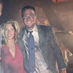 Emily Bett Rickards and Stephen Amell PERFECT