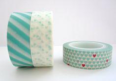 Washi Tape Set Mint Splash by TheSewingPost