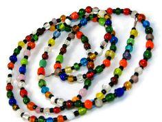 Bold Multicolored Beaded Eyeglasses, ID or Key Lanyard  by nonie615