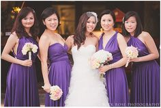 #Purplebridesmaiddresses with their own unique style | #DestinationWedding Photography at the Alkaff Mansion, Singapore | Nick Rose Photography