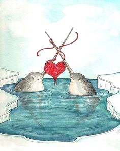 Knitting Narwhals by Pseudooctopus on deviantART