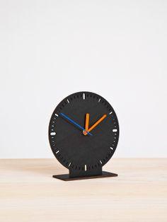 'cardboard clock — black' by Georg schnitzer and peter umgeher, founders of vienna-based design studio vandasye