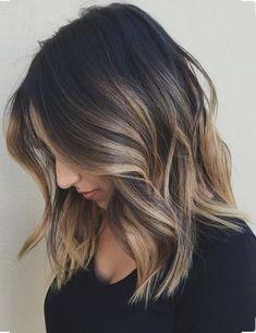 Caramel blonde bayalage on dark brunette base   Hair   Pinterest ...