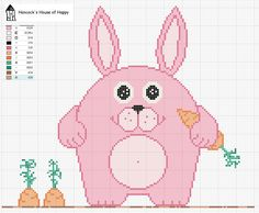 Free Happy Easter Bunny Cross Stitch Chart