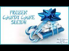 Frozen Candy Cane Sleigh Gift Idea - Crafty Morning                                                                                                                                                                                 More
