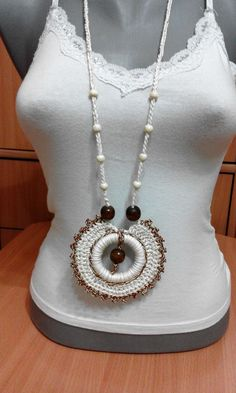 Crochet Necklace made by Lidija Farago