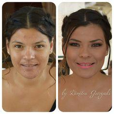 Bronze summer makeup look