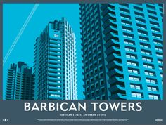 Barbican Towers Print by Dorothy