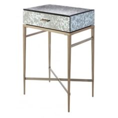 Dallin Antique Brass Side Table