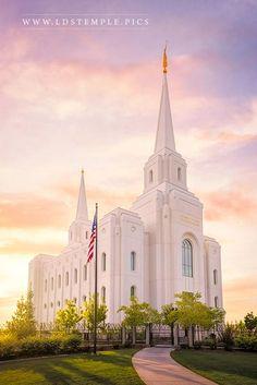 Brigham City Utah Temple Summer Sunset | LDS Temple Pictures