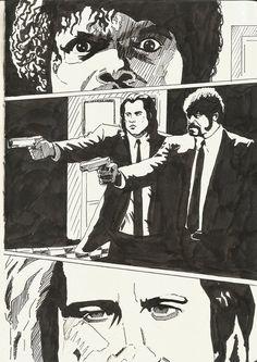 Pulp Fiction comic page by berksenturk.deviantart.com