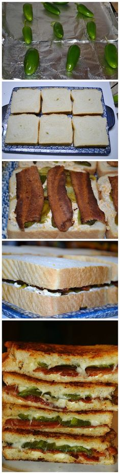 Bacon & Jalapeno Popper Grilled Cheese Sandwiches Recipe