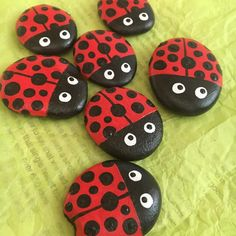 2190 Lady Bugs Lady Bugs, Cape Town, Rocks, Food, Meals, Yemek, Stones, Eten