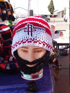 HOUSTON ROCKETS Bearded Beanie Rockets by DWedgeCreations on Etsy