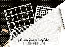PLANNER STICKER TEMPLATES Commercial Use Blank Diy by ClipArtBrat